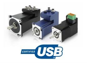 内置运动控制器的编程伺服电机|USB接口